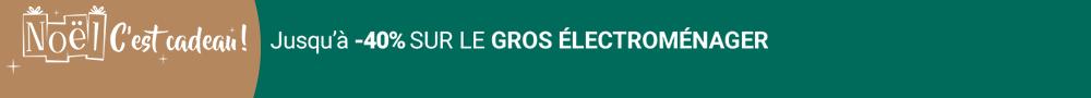 Electro - Jusqu'à -40% sur le gros Electroménager