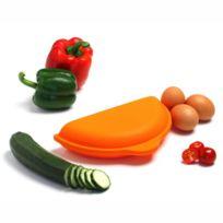 Yoko Design - Cuit omelette en silicone pour four micro-ondes - Orange