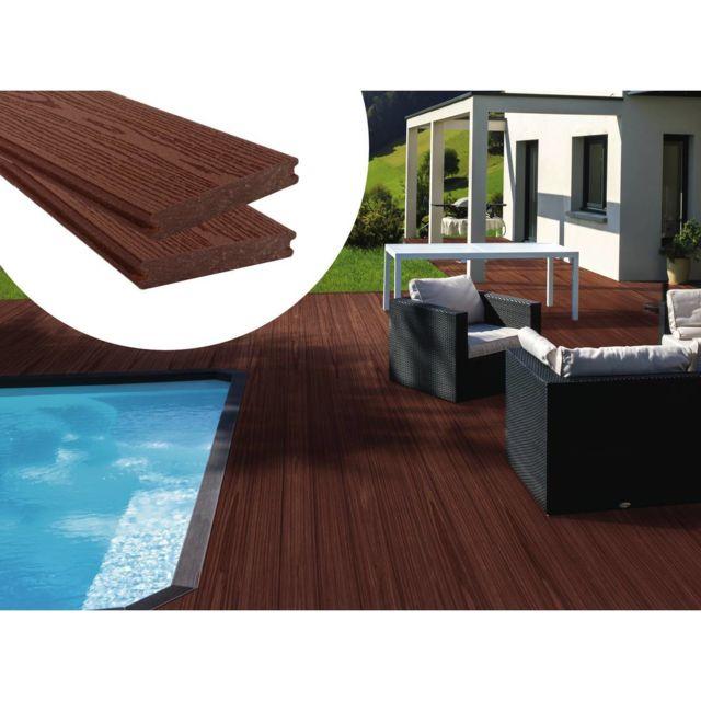 Habitat Et Jardin Lot De 3 Lames De Terrasse Composite Co