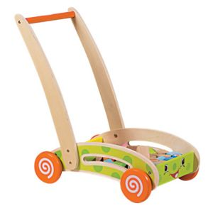 WOOD N PLAY - Chariot bois avec 40 blocs construction