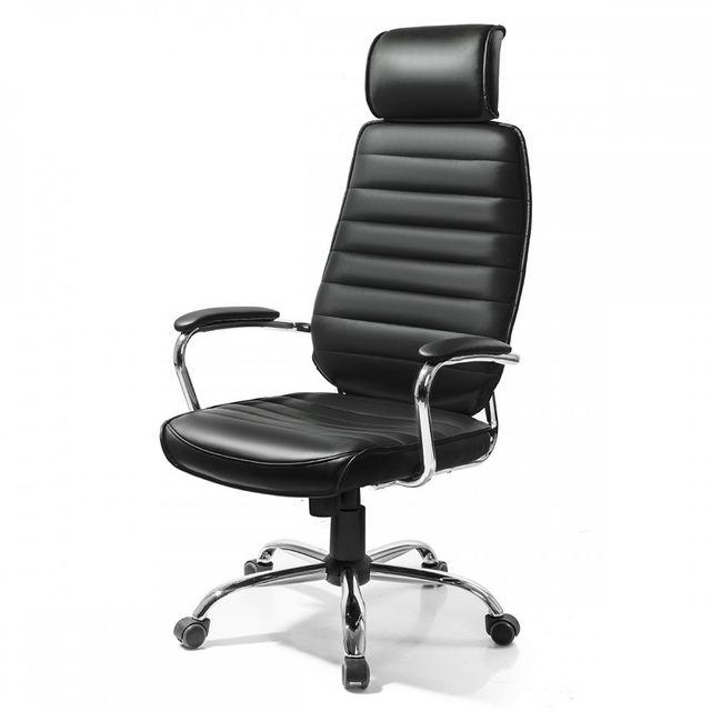 homekraft fauteuil de bureau fonte design et inclinable top qualit noir pas cher achat. Black Bedroom Furniture Sets. Home Design Ideas