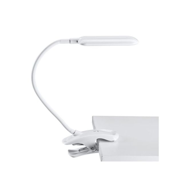 Bureau Blanc À De Lampe Pince Flexible Bras UVSGMqzp
