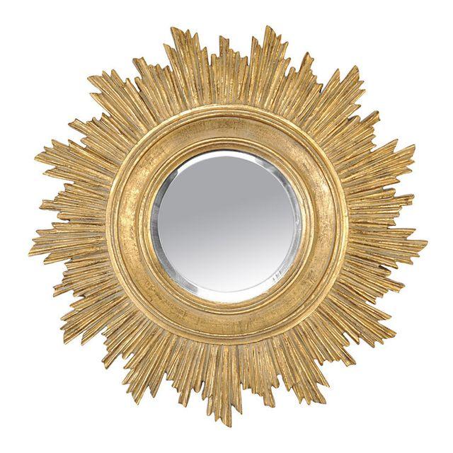 Emde Miroir rond en résine soleil doré D.45cm Boheme