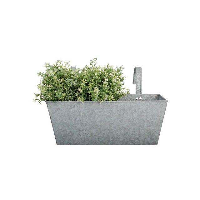 ESSCHERT DESIGN - Jardinière zinc avec accroche