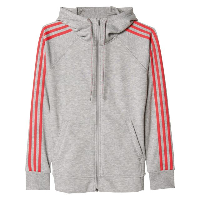 63e07ba41d6 Adidas performance - Veste à capuche Ess 3S Gris - XS - pas cher ...