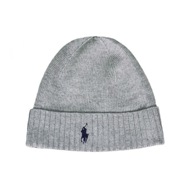 Ralph Lauren - Bonnet gris pour homme - pas cher Achat   Vente Casquettes 4cf257c5feef