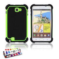 """Muzzano - Coque Semi-Rigide Ultra-Slim """"La Sport Case"""" Premium Vert pour Samsung Galaxy Note"""