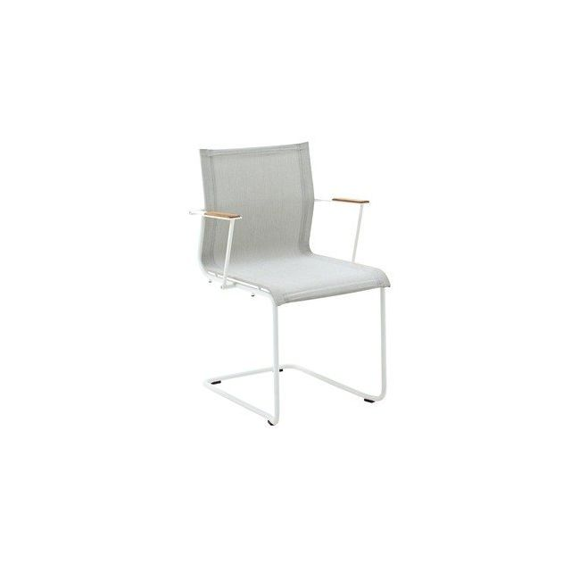 Gloster Fauteuil Sway - gris clair - blanc