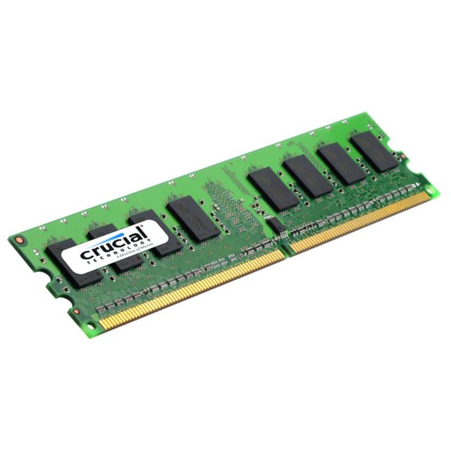 CRUCIAL Mémoire DDR2 PC2-8500 - 2 Go 1066 MHz - CAS 5 - CT25664AA1067 Mémoire - 2 Go - non ECC - DDR2 1066 MHz - DIMM 240 broches - PC2-8500