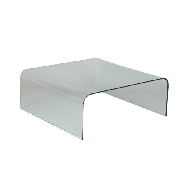 Table Basse En Verre Carree.Table Basse Carree En Verre Trempe Glass