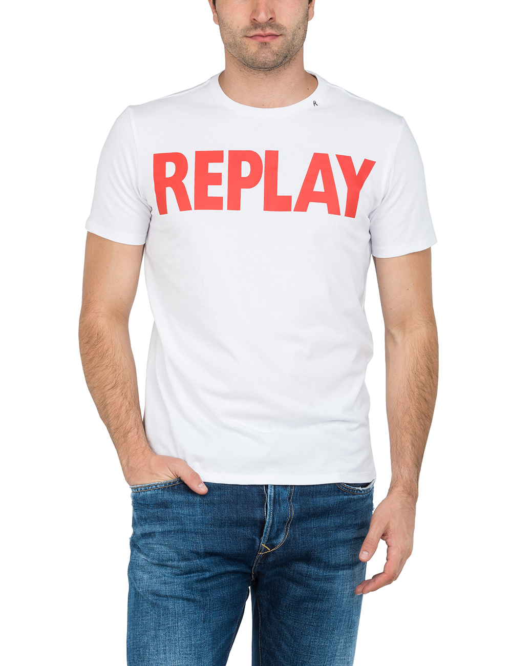 Tee-shirt blanc avec logo