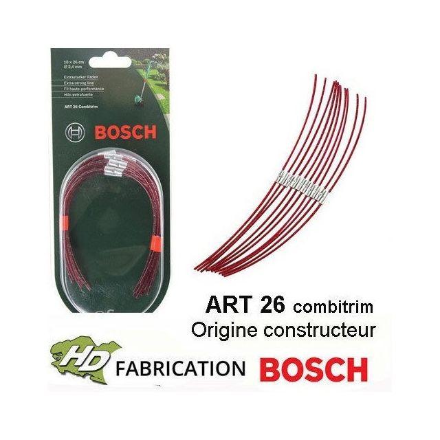 Bosch Sachet de 10 fils Haute Performance pour coupe-bordures Art 26 Combitrim F016800181