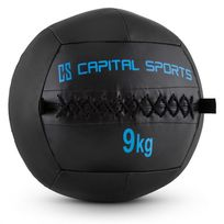 CAPITAL SPORTS - Epitomer Wall Ball 9kg cuir synthétique noir