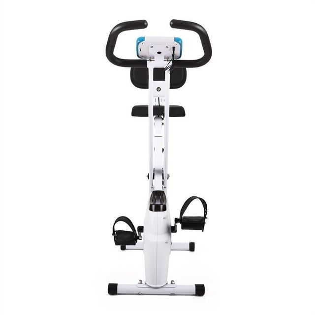 KLARFIT - Azura Vélo d'appartement confort avec dossier, pliable, 100 kg