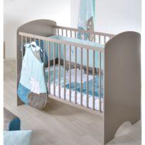 DOMIVA - Lit bébé sweety taupe 60x120