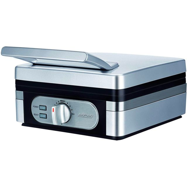 Mpm Gaufrier Belge machine à gaufres revêtement Anti-Adhésif 1400W Mgo 13
