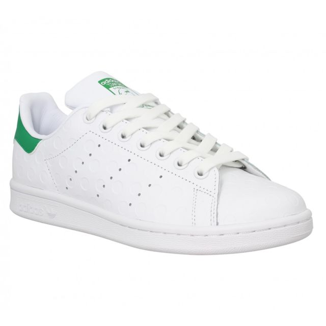new product 5b1ba c8dfc Adidas - Stan Smith cuir grave-38-Blanc Vert