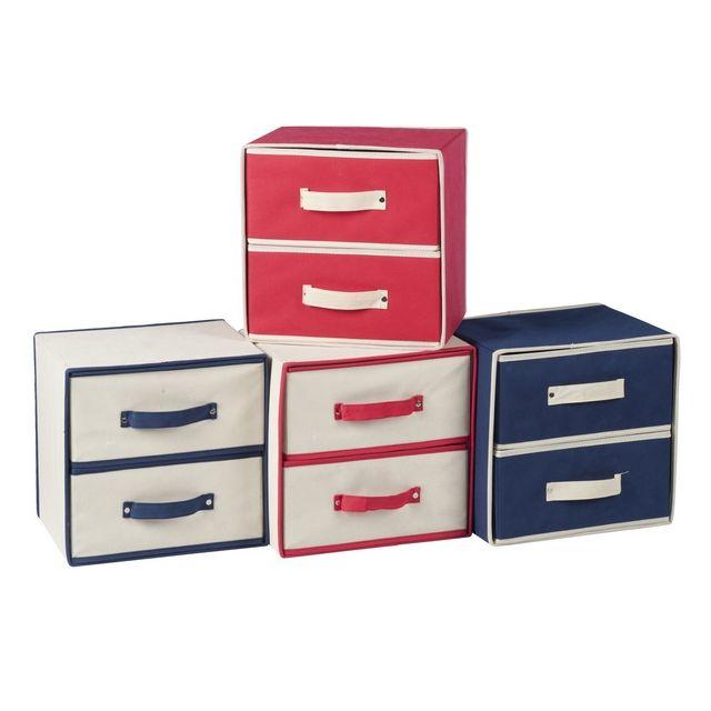 maison futee casier de rangement 2 tiroirs pas cher achat vente rangements chaussures. Black Bedroom Furniture Sets. Home Design Ideas