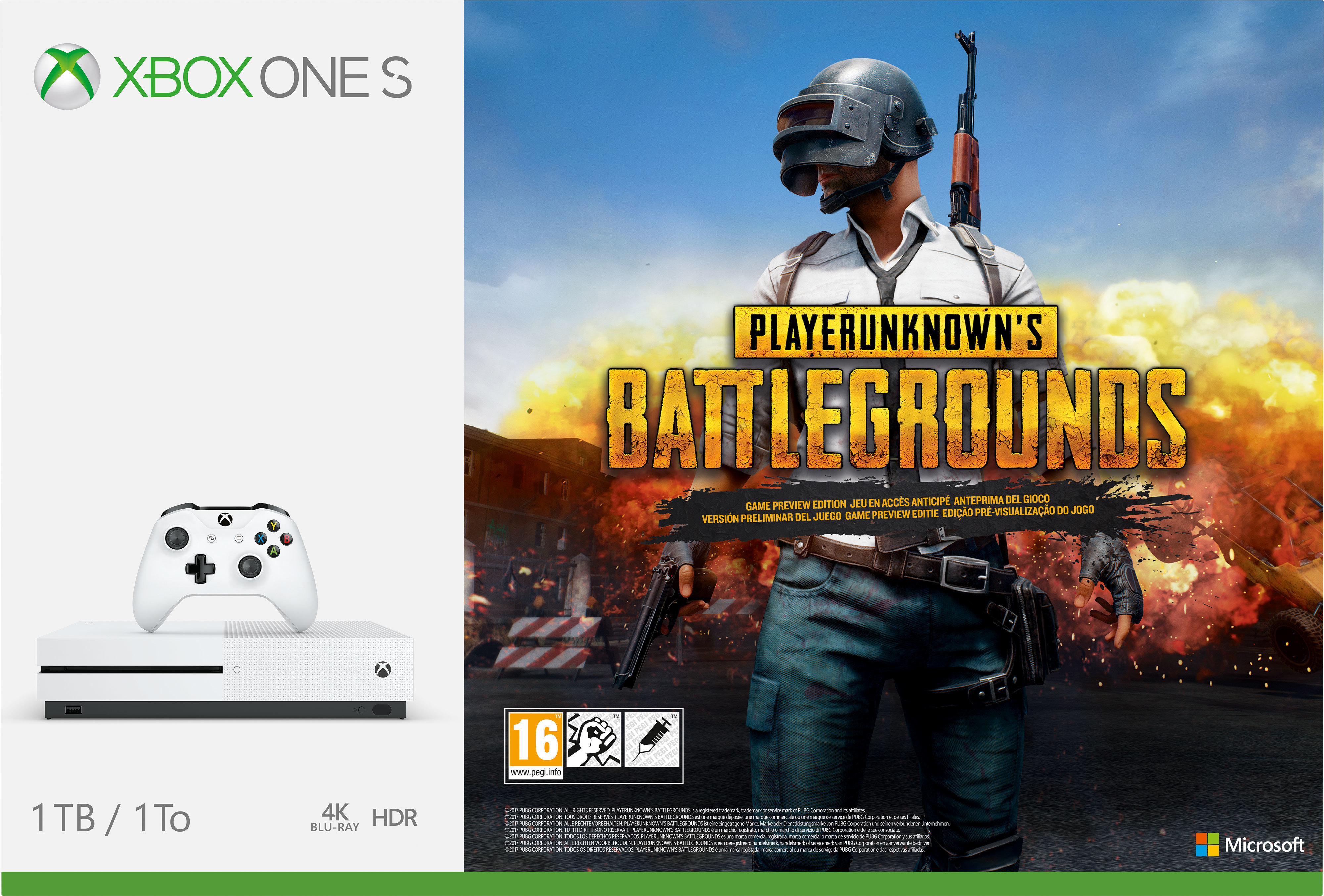 Pack Xbox One S 1To - PLAYERUNKNOWN'S BATTLEGROUNDS