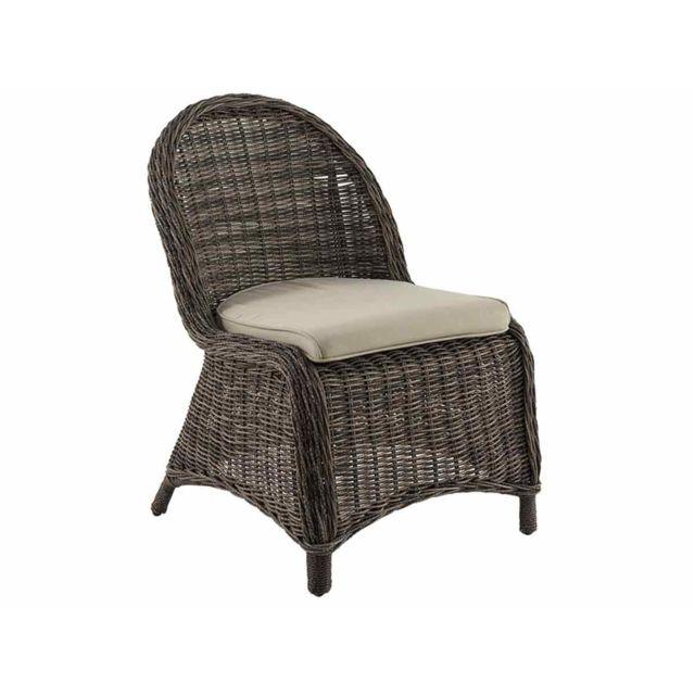 HESPERIDE - Chaise de jardin en résine tressée Bétong - pas cher ...