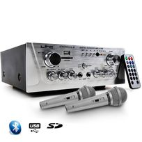 Ltc Audio - Amplificateur Hifi Stéréo Karaoke Usb/BLUETOOTH/SD 100W + 2 Microphones noir