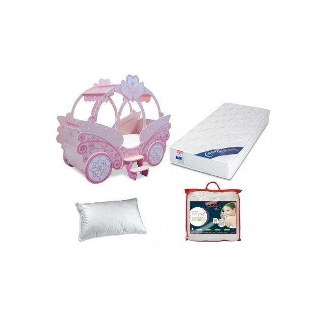 Vente-unique - Pack Chambre Fille - Lit Princesse + 1 ...