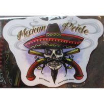 Universel - Sticker mexican pride autocollant style tattoo mexicain pistolets croisés