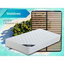 Altobuy - Maldives - Pack Matelas + Lattes 130x190