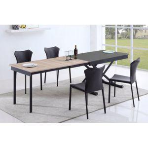 giovanni table basse relevable vivaldi verre gris 120cm x 43cm x 80cm pas cher achat vente. Black Bedroom Furniture Sets. Home Design Ideas