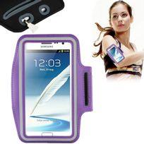 Techexpert - Brassard tour de bras pour Samsung Galaxy Note 2 Note 3 Note 4 Note 5 violet