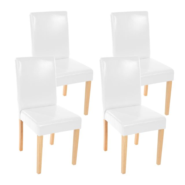 Lot de clairs de séjour 4 cuirblancpieds chaises Littausimili TKcF1lJ