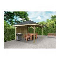 Solid - Abri de Jardin Maisonnette Chalet Kiosk Combination 347x347