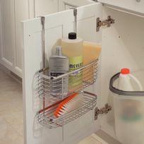 Interdesign - Range accessoires pour cuisine 2 compartiments avec crochet pour armoire