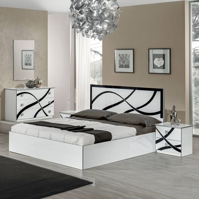 Altobuy Sylla - Chambre avec Lit 160x200cm et Commode