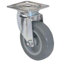 Tente - Roulette Pivotante S15 - Fixation A Platine - Type:Pivotante - Ø roue mm:50 - Haut. mm:70 - Charge kg:40