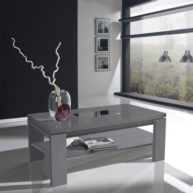 Tousmesmeubles Table basse relevable cendre - Delya