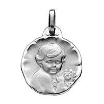 Sochicbijoux - So Chic Bijoux © Médaille Ronde Chérubin Or Blanc 750/000 18 carats