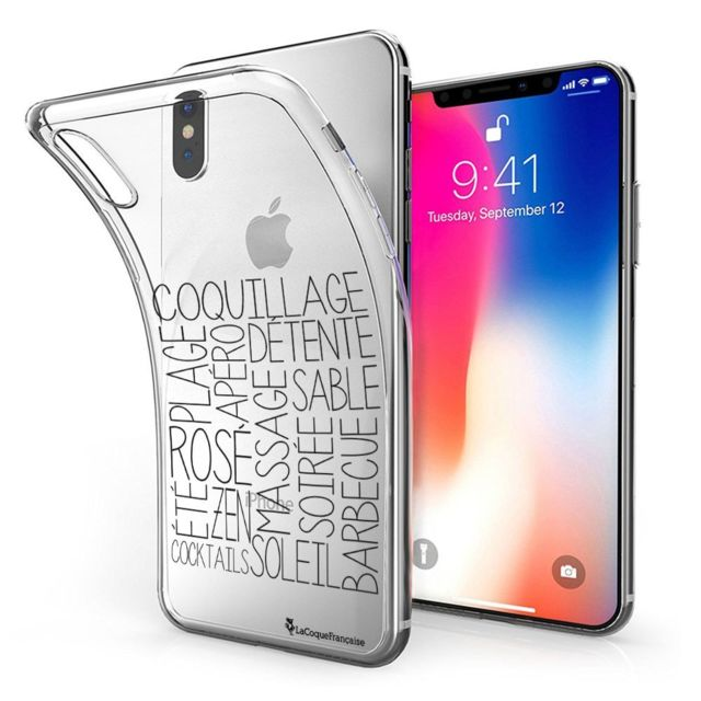 coque iphone xs transparente souple
