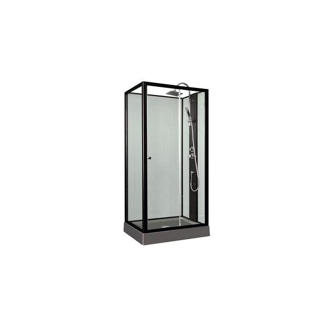aqua cabine de douche astoria gris 100x80 cm pas cher. Black Bedroom Furniture Sets. Home Design Ideas