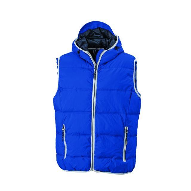 Veste hybride style sweat JN1124 bleu marine Doudoune