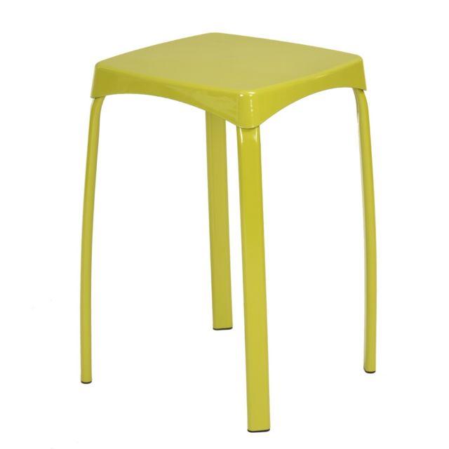 Capsull Design Tabouret Color Vert Lot De 6 Pas Cher Achat