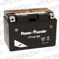Power Thunder - Batterie Yt12A-BS Avec Acide