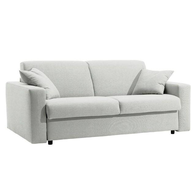 inside 75 canap lit dreamer rapido sommier lattes 160cm matelas 16cm cuir co blanc cass. Black Bedroom Furniture Sets. Home Design Ideas