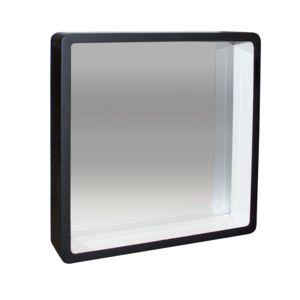 Comingb miroir carr noir rebord profond elegance pas for Miroir carre noir