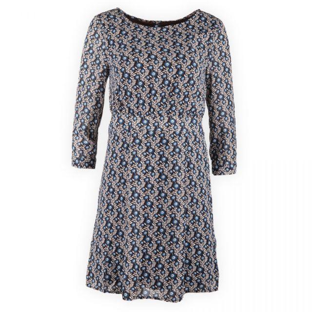 Best Mountain - Robe fleurie dos ouvert femme Marron - 34 - pas cher Achat    Vente Robes - RueDuCommerce ad65b706d426