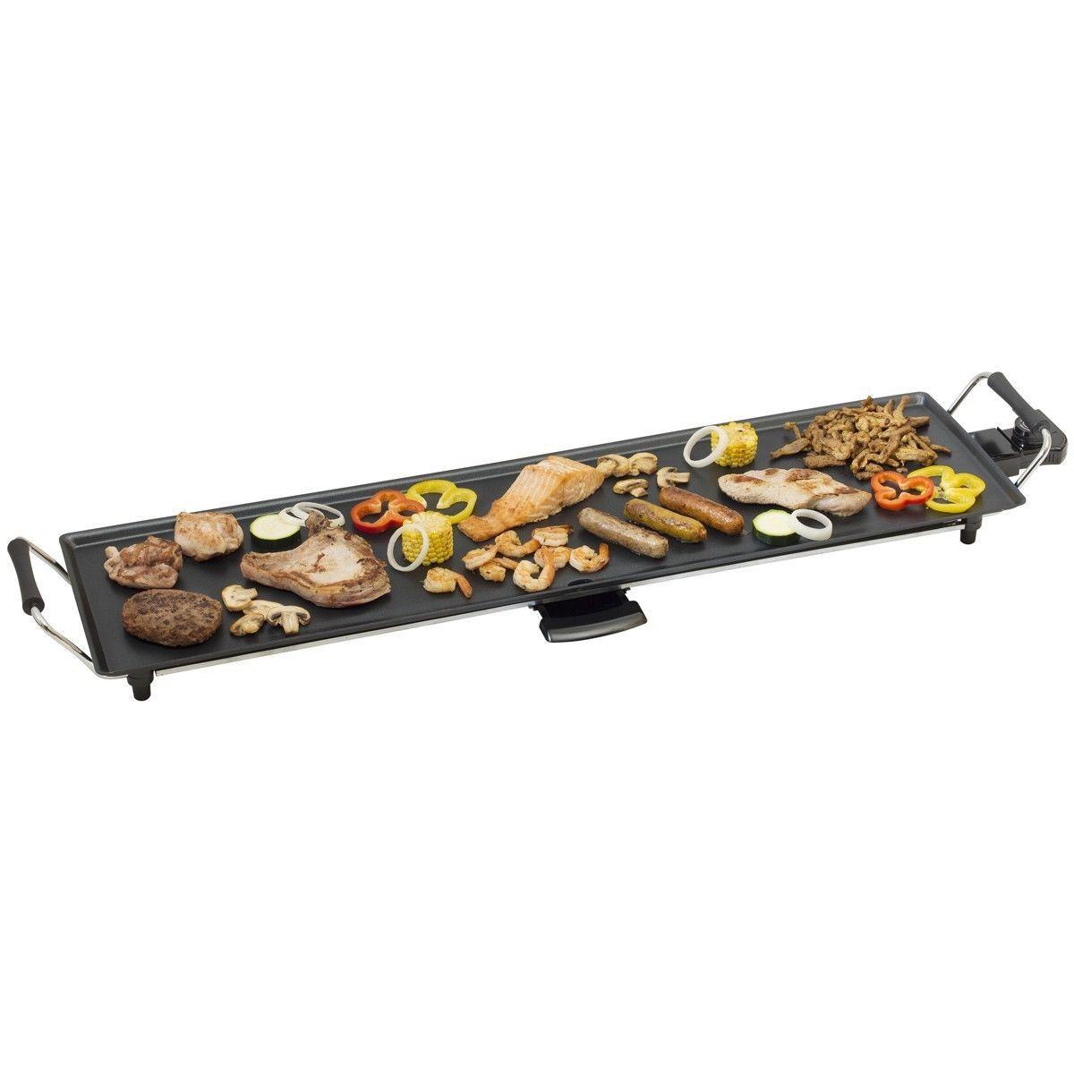 Plancha XXL 90,5x23,5cm 1800W avec thermostat récupérateur de graisse intégrée