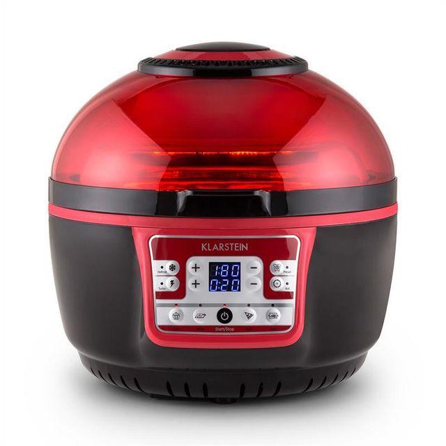 KLARSTEIN VitAir Turbo friteuse à air chaud 1400W grill cuisson 9L - rouge/noir