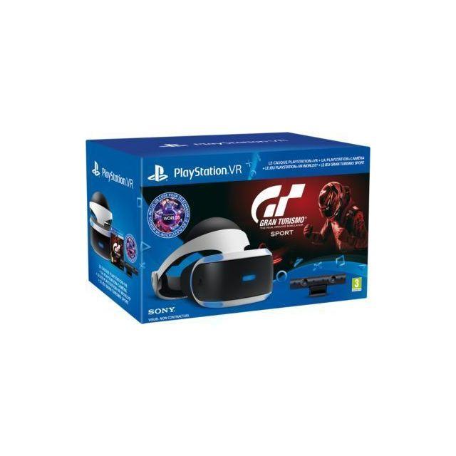 SONY Casque PSVR + jeu PS4 Gran Turismo Sport