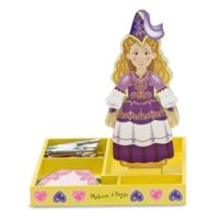 Melissa & Doug - 13553 - PoupÉE Et Mini PoupÉE - Princess Elise - Magnetic Wooden Dress Up Doll