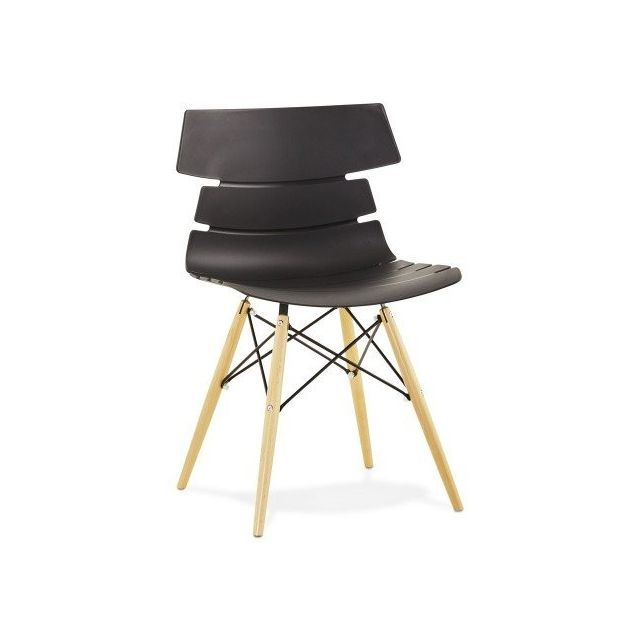 Moderne Style 'MAISSA' Noire Scandinave Chaise fm6v7YgyIb